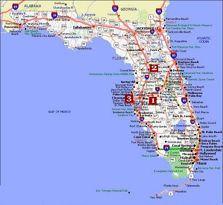 Florida Movie Poster Dealers & Travel Map