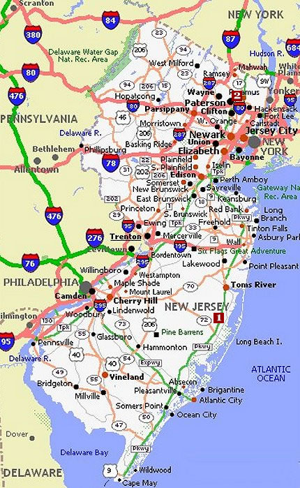 New Jersey Movie Poster Dealers Amp Travel Map