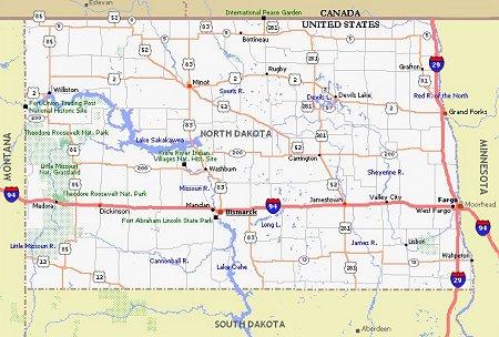 North Dakota Movie Poster Dealers & Travel Map