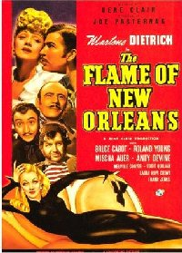 Flame of New Orleans 1941 US window card