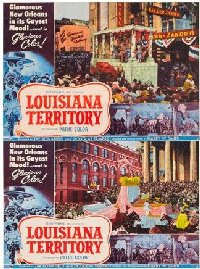 Louisiana Territory 1953 US Lobby Cards