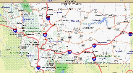 Montana Movie Poster Dealers Travel Map - Montana on us map