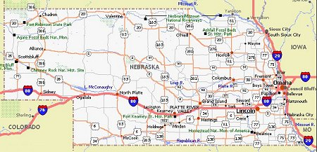 Nebraska Movie Poster Dealers Travel Map - Nebraska on us map