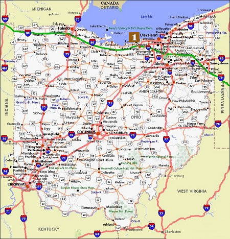 Ohio Movie Poster Dealers Amp Travel Map