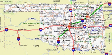 dealer and travel information for oklahoma back to us map