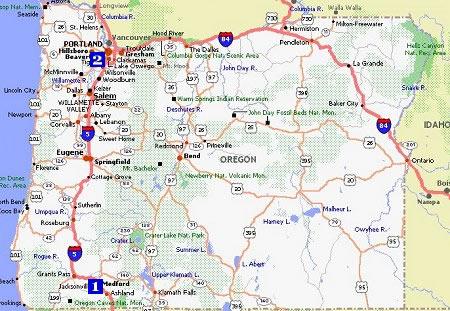 Oregon Movie Poster Dealers & Travel Map